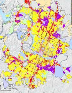 Large map of Austin Zoning