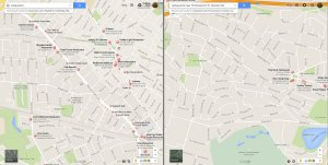 Restaurants nearby in Newton vs Cambridge