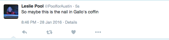 So maybe this is the nail in Gallo's coffin